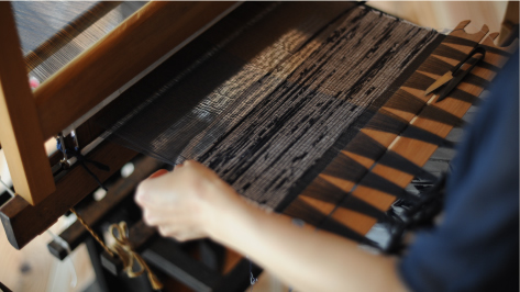 ぼろ織り体験 写真