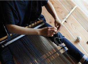 糸綜絖作り 写真